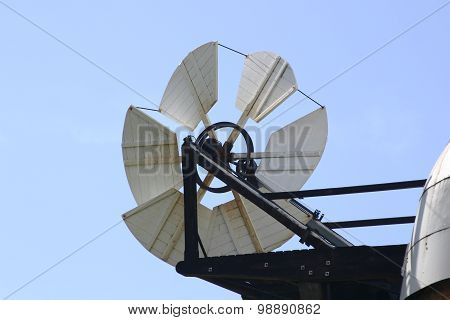 White fantail of windmill