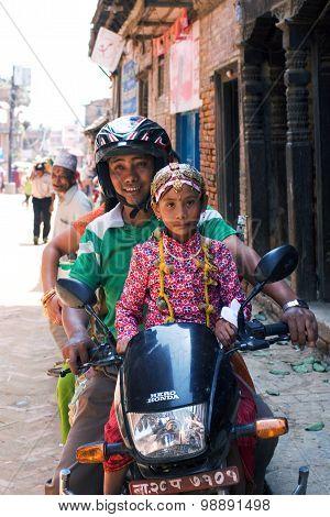 Nepalese Biker