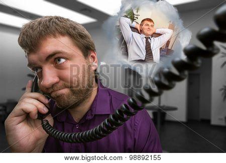 Man speaks on the phone