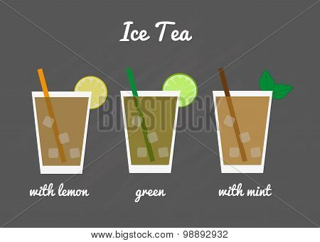 Ice Tea Menu.
