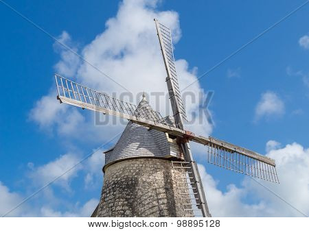 Detail Of Windmill In Marie-galante, Guadeloupe