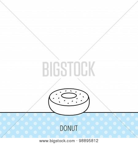 Donut icon. Sweet doughnuts sign.