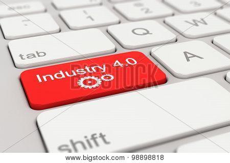 Keyboard - Industry - 4.0 - Red