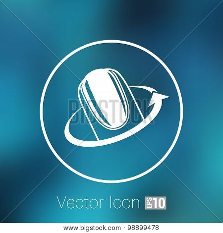 Nail polishing at the salon - Vector icon isolated