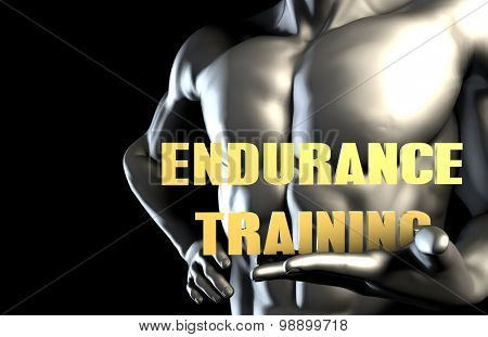 Endurance training With a Business Man Holding Up as Concept