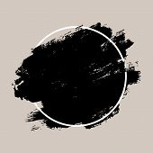 Abstract Textured Ink Brush Background poster