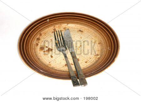 Dirty Dinner Plate
