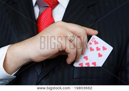 poker and men