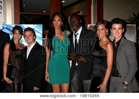 LOS ANGELES - APR 15:  Frankie Muniz, Kimora Lee, Djimon Hounsou, Kevin Jonas & Wife attending the 2011 Toyota Grand Prix Charity Ball at the Westin Long Beach on April 15, 2011 in Long Beach, CA.