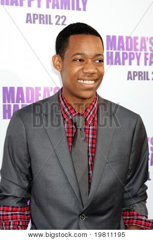 "LOS ANGELES - APR 19:  Tyler James Williams arrives at the ""Madea's Big Happy Family"" Premiere at ArcLight Cinemas Cinerama Dome on April 19, 2011 in Los Angeles, CA.."
