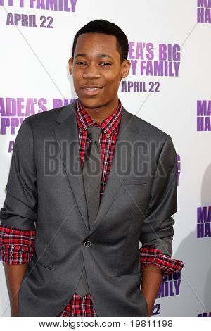 "LOS ANGELES - APR 19:  Tyler James Williams arrives the ""Madea's Big Happy Family"" Premiere at ArcLight Cinemas Cinerama Dome on April 19, 2011 in Los Angeles, CA.."