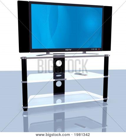 Hdtv Blue Abstract Big Screen 3D