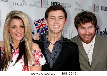 LOS ANGELES - APR 26:  Lauren Alaina, Scotty McCreery and Casey Abrams arriving at the 5th Annual BritWeek Launch Party at British Consul General's residence on April 26, 2011 in Los Angeles, CA..