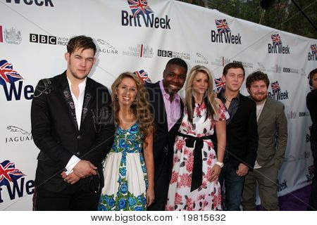LOS ANGELES - APR 26:  James Durbin, Haley Reinhart, Jacob Lusk, Lauren Alaina, Scotty McCreery and Casey Abrams at the  BritWeek Party at British Consul General's  on April 26, 2011 in Los Angeles, CA..