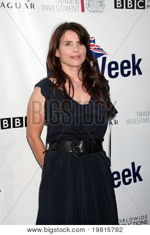 LOS ANGELES - APR 26:  Julia Ormond arriving at the 5th Annual BritWeek Launch Party at British Consul General's residence on April 26, 2011 in Los Angeles, CA..
