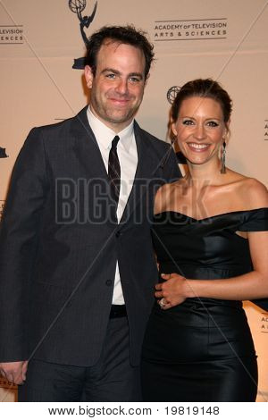 LOS ANGELES - MAY 5:  Paul Adelstein, KaDee Strickland arriving at the 4th Annual Television Academy Honors  at Beverly Hills Hotel on May 5, 2011 in Beverly Hills, CA