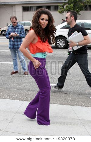LOS ANGELES - MAY 8:  Cheryl Cole, one of the talent judges,  arriving at the