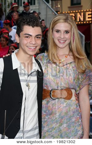 LOS ANGELES - MAY 7:  Adam Irigoyen, Caroline Sunshine arriving at the