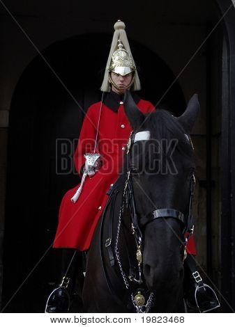 Mounted horseguard at St James' Palace