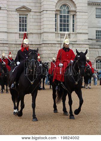 Horse guard cavalry on duty in London