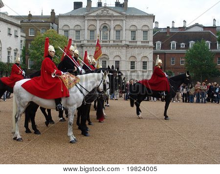 Horseguard ceremony at St. James Palace, London