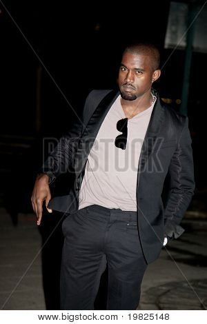 NEW YORK - APRIL 21: Rapper Kanye West attends the Vanity Fair party for the 2009 Tribeca Film Festival on April 21, 2009 in New York.