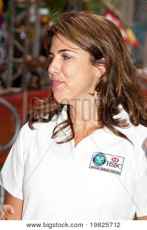 NEW YORK - JUNE 22:  Jennife Capriati attend the HSBC presents Wimbledon  on June 22, 2009 in New York City.