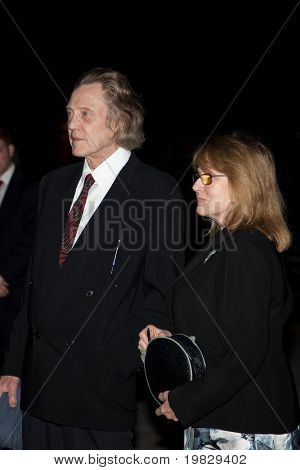 NEW YORK - APRIL 21: Actor Christopher Walken with guest attend Vanity Fair party during the 8th annual Tribeca Film Festival at the State Supreme Courthouse April 21, 2009 in New York.