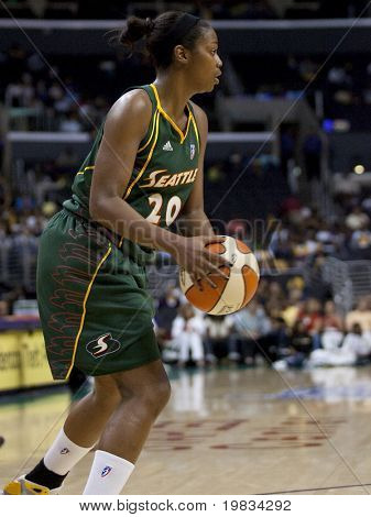 LOS ANGELES, CA. - SEPTEMBER 16: Camille Little in action during the WNBA playoff game of the Sparks vs. Storm on September 16, 2009 in Los Angeles.