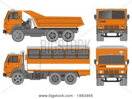 Vector Heavy Truck