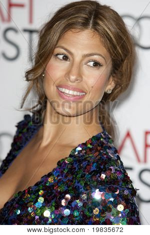HOLLYWOOD, CA. - NOVEMBER 4: Eva Mendes attends the AFI Fest screening of Bad Lieutenant: Port of Call New Orleans at The Grauman's Chinese Theater on November 4, 2009 in Hollywood.