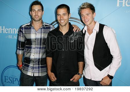 HOLLYWOOD, CA. - JULY 13: U.S. Mens National Soccer Team players (L-R) Carlos Bocanegra, Benny Feilharber, and Stuart Holden attend Fat Tuesday at The ESPYs on July 13th, 2010 in Hollywood, Ca.