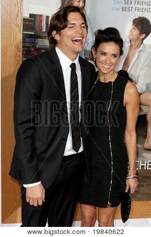 WESTWOOD, CA. - JAN 11: Ashton Kutcher (L) and wife Demi Moore (R) arrive at the Paramount Pictures premiere of No Strings Attached on January 11, 2011 at the Regency Village Theater in Westwood, CA