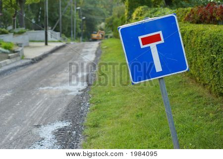 British No Through Road Sign