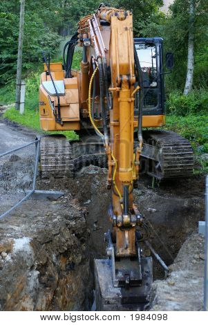 Road Construction Tractor Excavator Shovel Grader