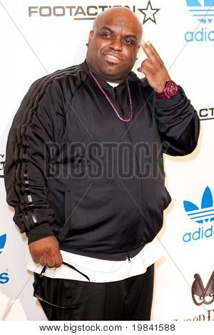LOS ANGELES, CA. - FEB 19: Musician Thomas DeCarlo Callaway also known as Cee Lo Green arrives at the NBA All-Star Weekend VIP party co-hosted by Adidas and Snoop Dogg on Feb 19, 2011 in Los Angeles.
