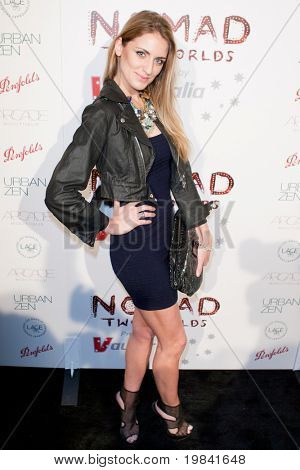 SANTA MONICA, CA. - FEB 22: American fashion model Melissa Rose Bickerstaff aka Melrose arrives at the Nomad Two Worlds Los Angeles debut gala at 59 Pier Studios West on Feb 22, 2011 in Santa Monica, CA.