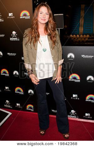 LOS ANGELES, CA. - MARCH 7: Vanessa Evigan arrives at Paramount Studios to celebrate the release of the Jackass 3 Blu-ray and DVD debut on March 7th 2011 in Los Angeles.