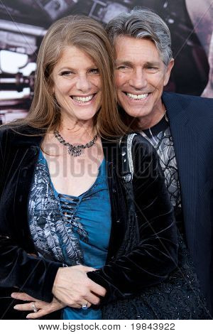 HOLLYWOOD, CA. - AUG 3: Eric Roberts (R) and guest arrive at The Expendables Los Angeles premiere at Grauman's Chinese Theater on August 3, 2010 in Hollywood, Ca.