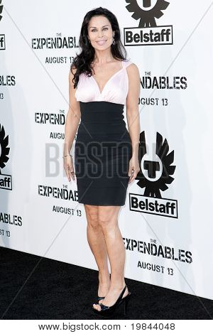 HOLLYWOOD, CA. - AUG 3: Simone Levin arrives at The Expendables Los Angeles premiere at Grauman's Chinese Theater on August 3, 2010 in Hollywood, Ca.