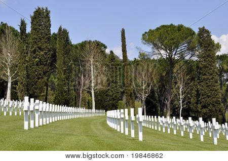 American cemetery in Italy