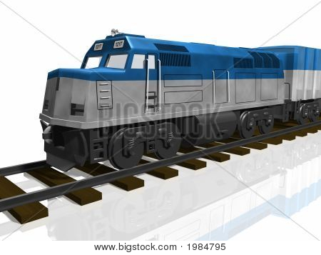 3D Train Isolated