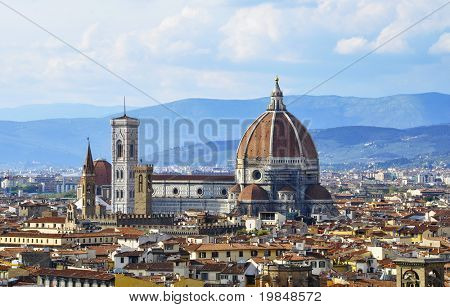 Santa Maria del Fiore ( also called il Duomo ) in Florence, Italy