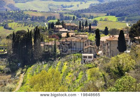 Small village in Tuscany, Italy