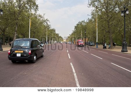 LONDON, UK - APRIL 20: The Mall which will be part of the royal wedding procession after the ceremony at Westminster Abbey to be held on Friday 29th April, April 20, 2011 in London, United Kingdom