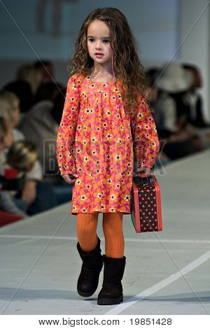 SCOTTSDALE, AZ - NOV 7: Children's fashion show presented by Garage on the main runway at Scottsdale Fashion Week on November 7, 2008 in Scottsdale, AZ