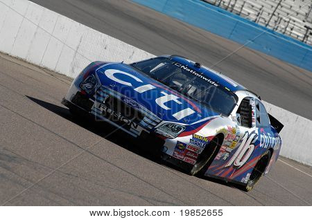 AVONDALE, AZ - APRIL 17: Greg Biffle #16 practices before winning the NASCAR Nationwide Series race at Phoenix International Raceway on April 17, 2009 in Avondale, AZ.