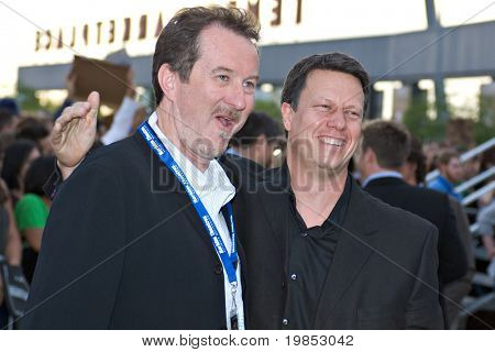 TEMPE, AZ - APRIL 27: Director Gavin Hood and producer Ralph Winter appear at the premiere of X-Men Origins: Wolverine on April 27, 2009 in Tempe, AZ.