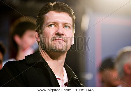 MESA, AZ - MARCH 27: Todd Palin, husband of former Vice Presidential candidate Sarah Palin, attends a re-election rally in support of Arizona Senator John McCain on March 27, 2010 in Mesa, AZ.