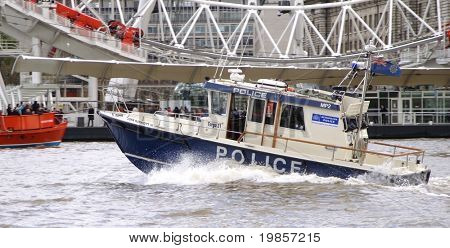 London river police boat.